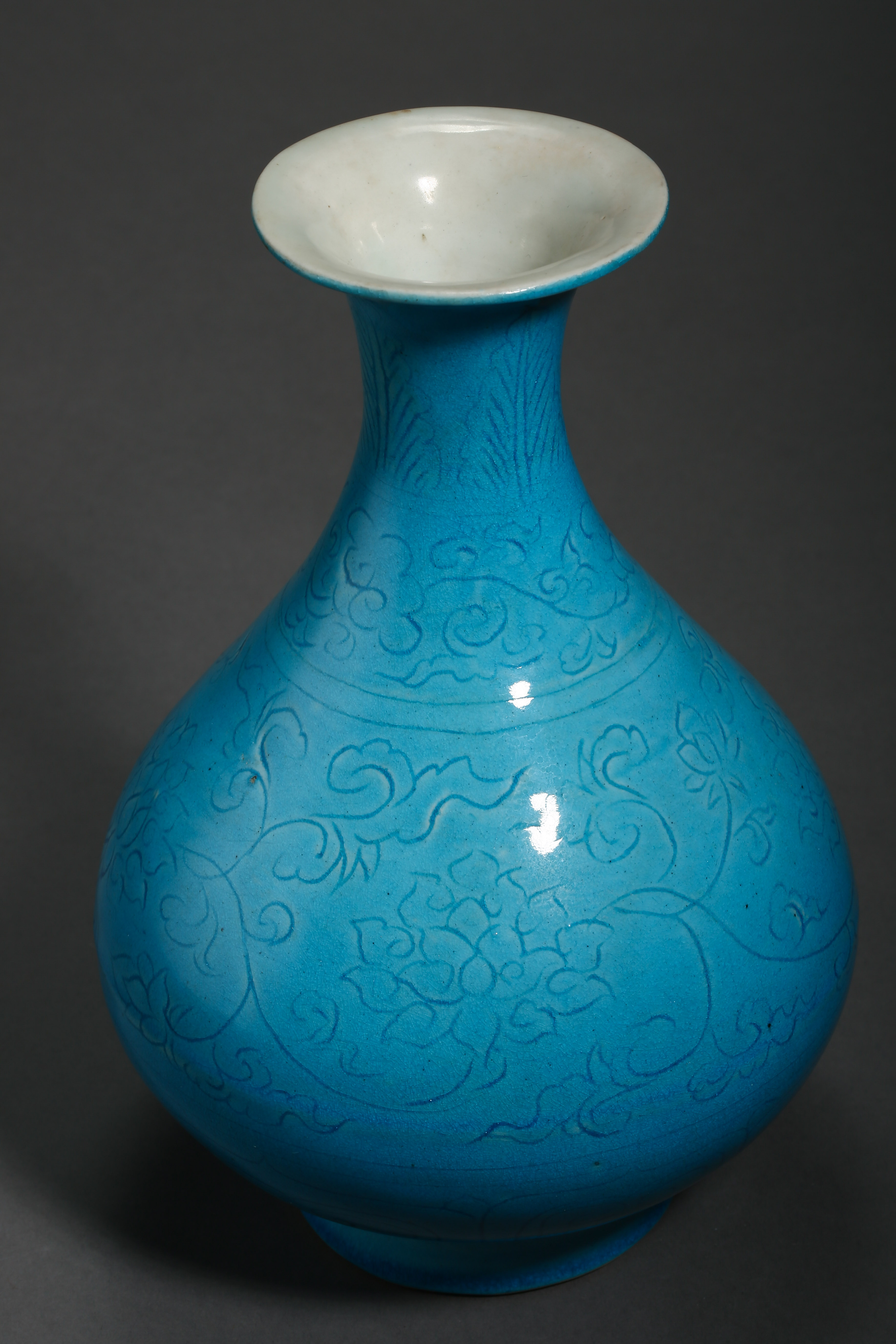 BLUE GLAZED POT, QING DYNASTY, CHINA - Image 4 of 8