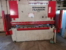EDWARD PIERSON SHEET METAL PRESS WITH CNC CONTROL & LIGHT GUARDS & SUPPORT ARMS 2500 X 60 TON