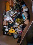 MIXED BOX OF HAND TOOLS & BITS & PIECES