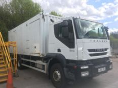 2009 IVECO TAKKER 27 TON 7790CC DIESEL 500KVA GENERATOR LORRY WITH SLEEPER CABIN ONE OWNER FROM NEW