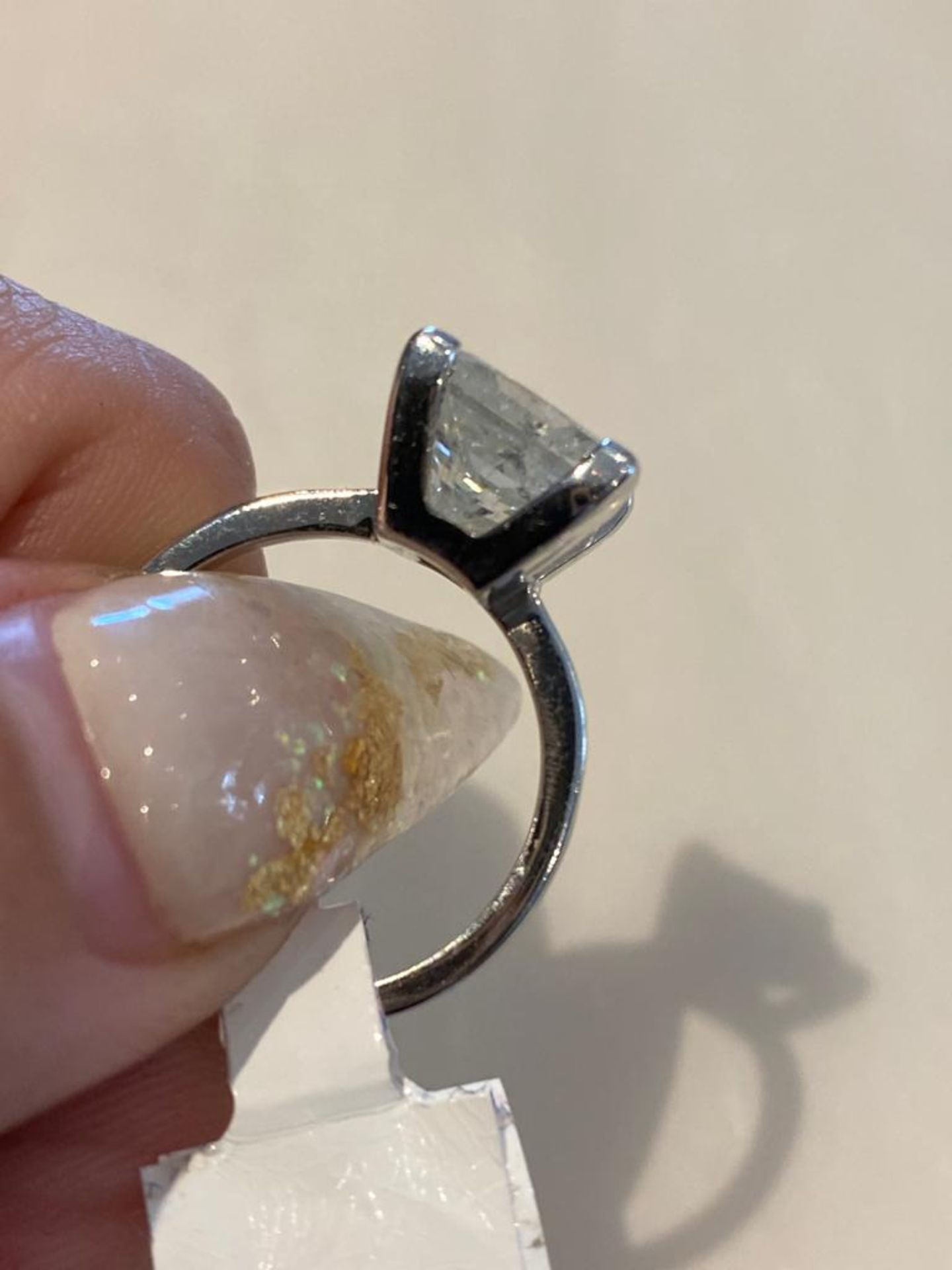 4.03 CT DIAMOND ING PRINCESS CUT - Image 2 of 7