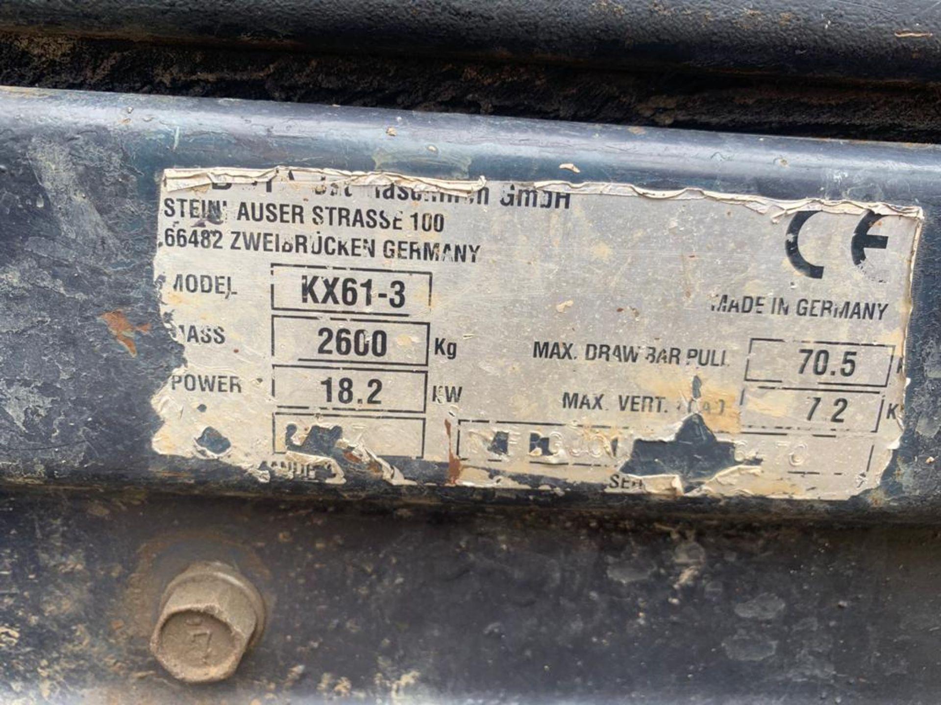 2007 KUBOTA KX61-3 2600KG TRACKED DIGGER INCLUDING 2 BUCKETS - Image 19 of 19