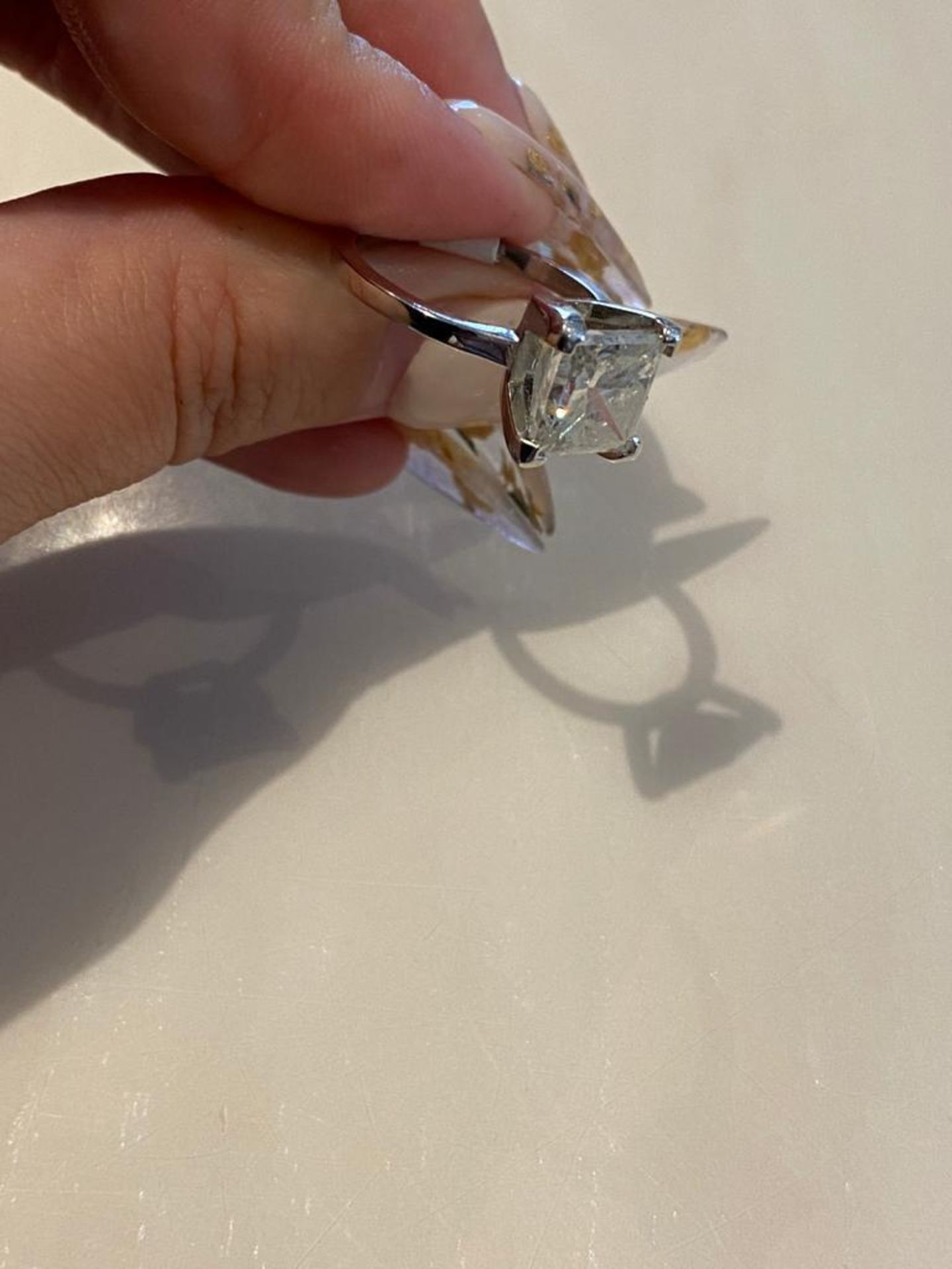 4.03 CT DIAMOND ING PRINCESS CUT