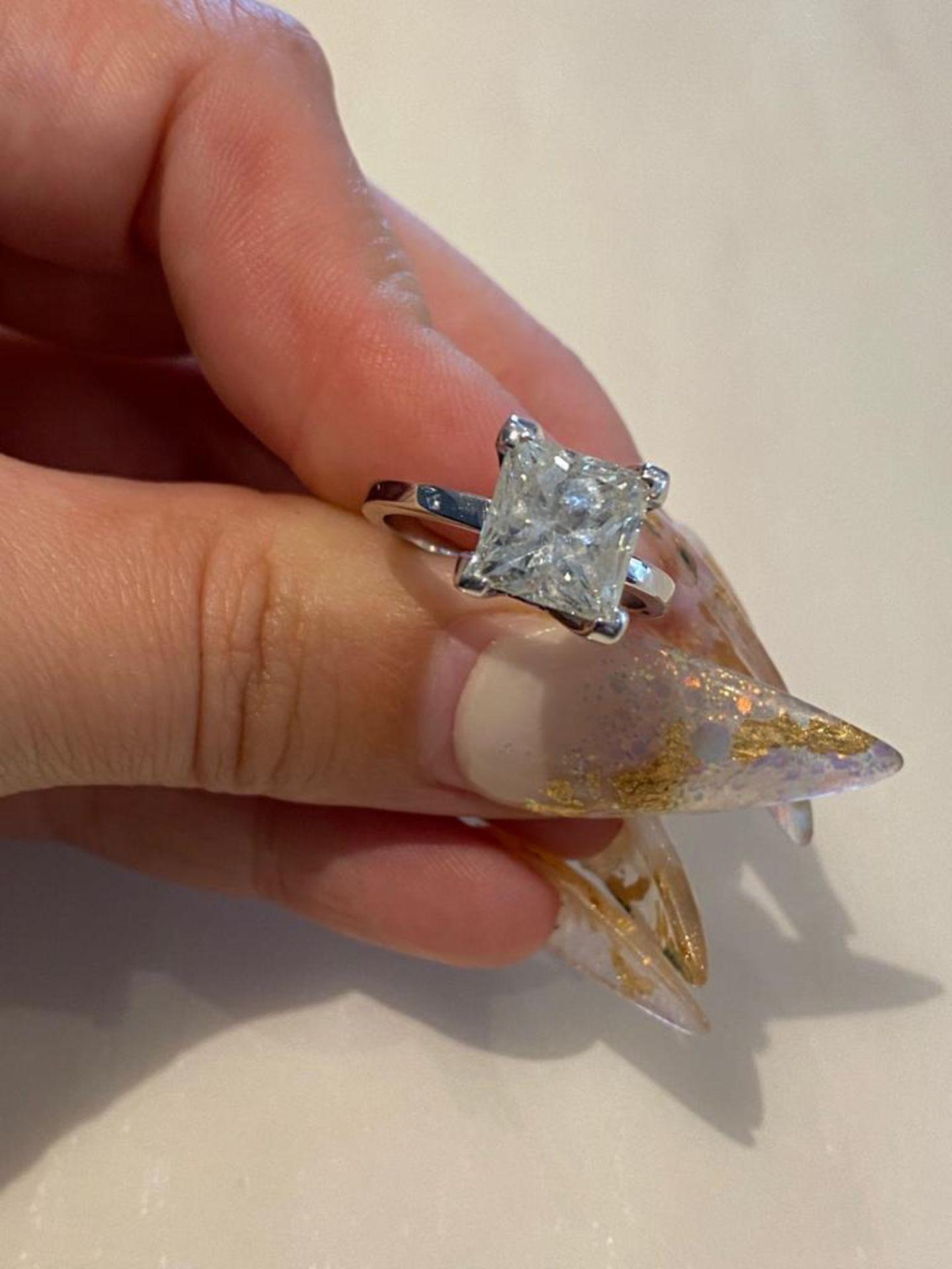 4.03 CT DIAMOND ING PRINCESS CUT - Image 3 of 7