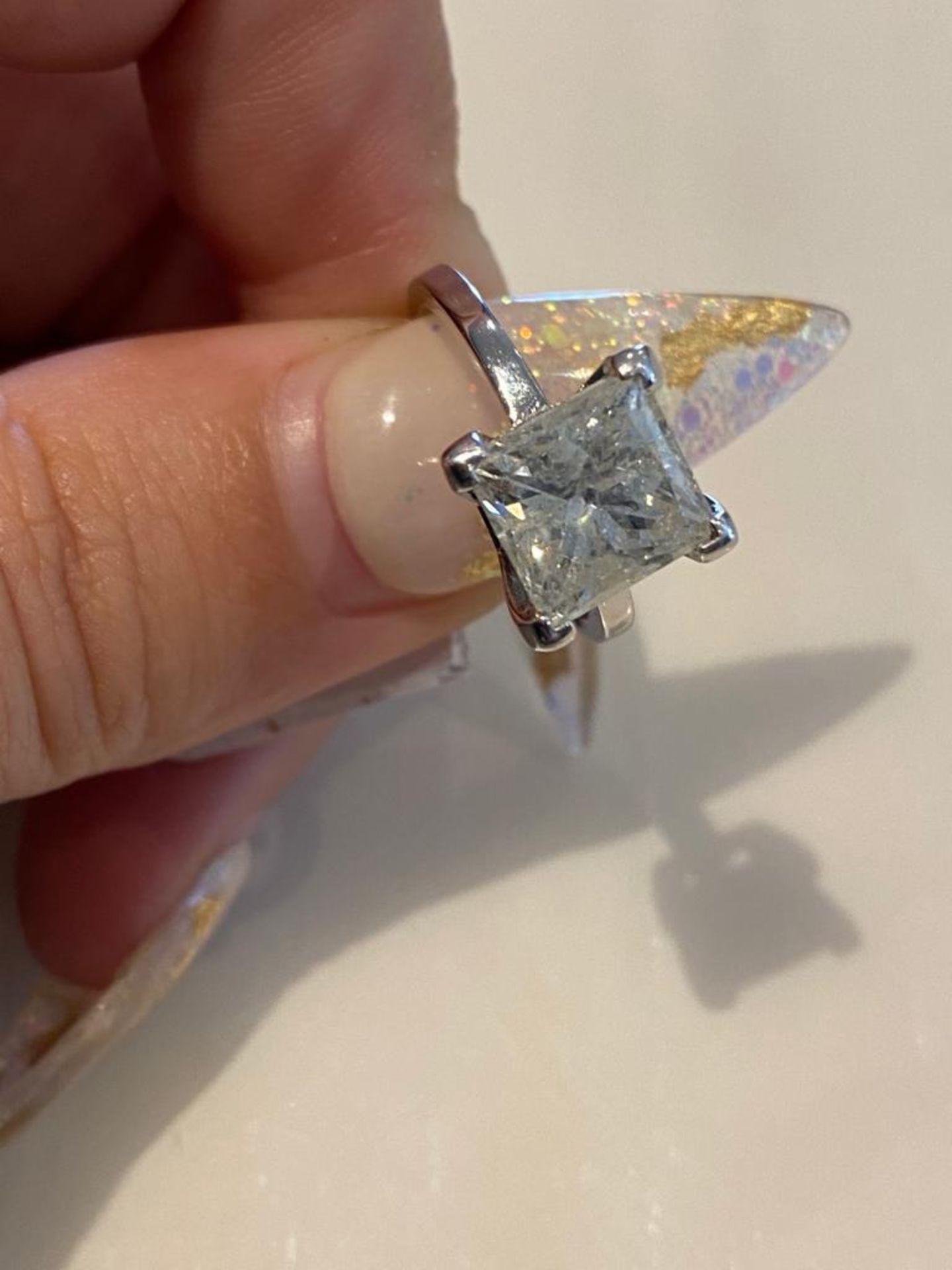 4.03 CT DIAMOND ING PRINCESS CUT - Image 7 of 7