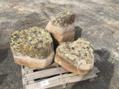 Basalt Rocks w/Lichen, Qty. 3