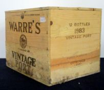 12 bts Warres 1983 Vintage Port owc