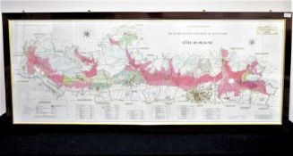 'Côte de Beaune' Art and Cartographie Atlas Des Grands Vignobles de Bourgogne Large Coloured