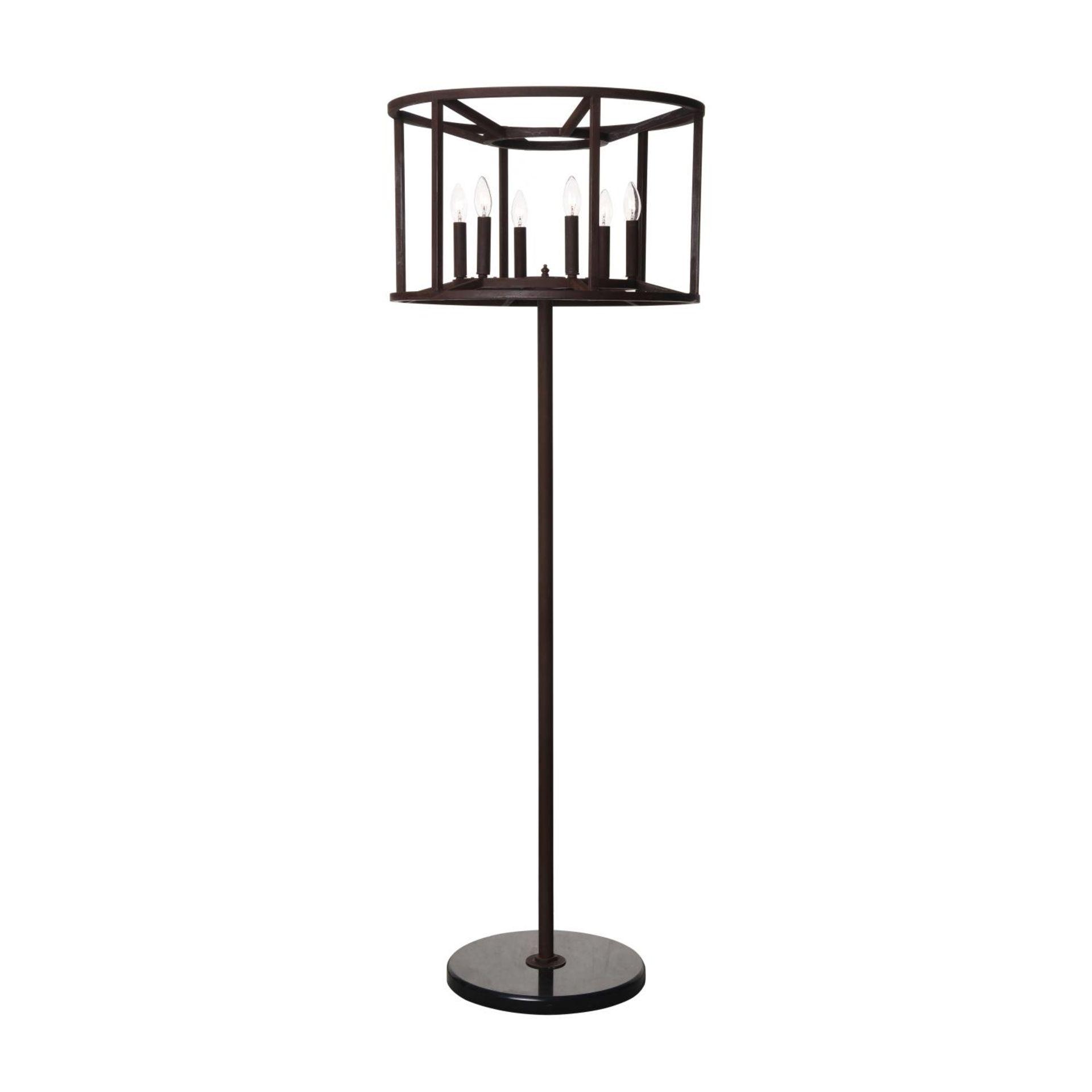 A CROWN FLOOR LAMP - ANTIQUE RUST 60cm x 60cm x 170cm (rrp £998) EU wired