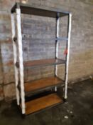 A BARBICAN SINGLE BOOKCASE - SALOON & IRON 105.4cm x 44.5cm x 200cm (rrp £925)