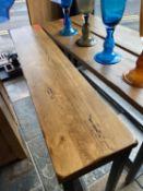 A BARBICAN CONSOLE - SALOON & IRON 152cm x 30.5cm x 76cm (rrp £575)