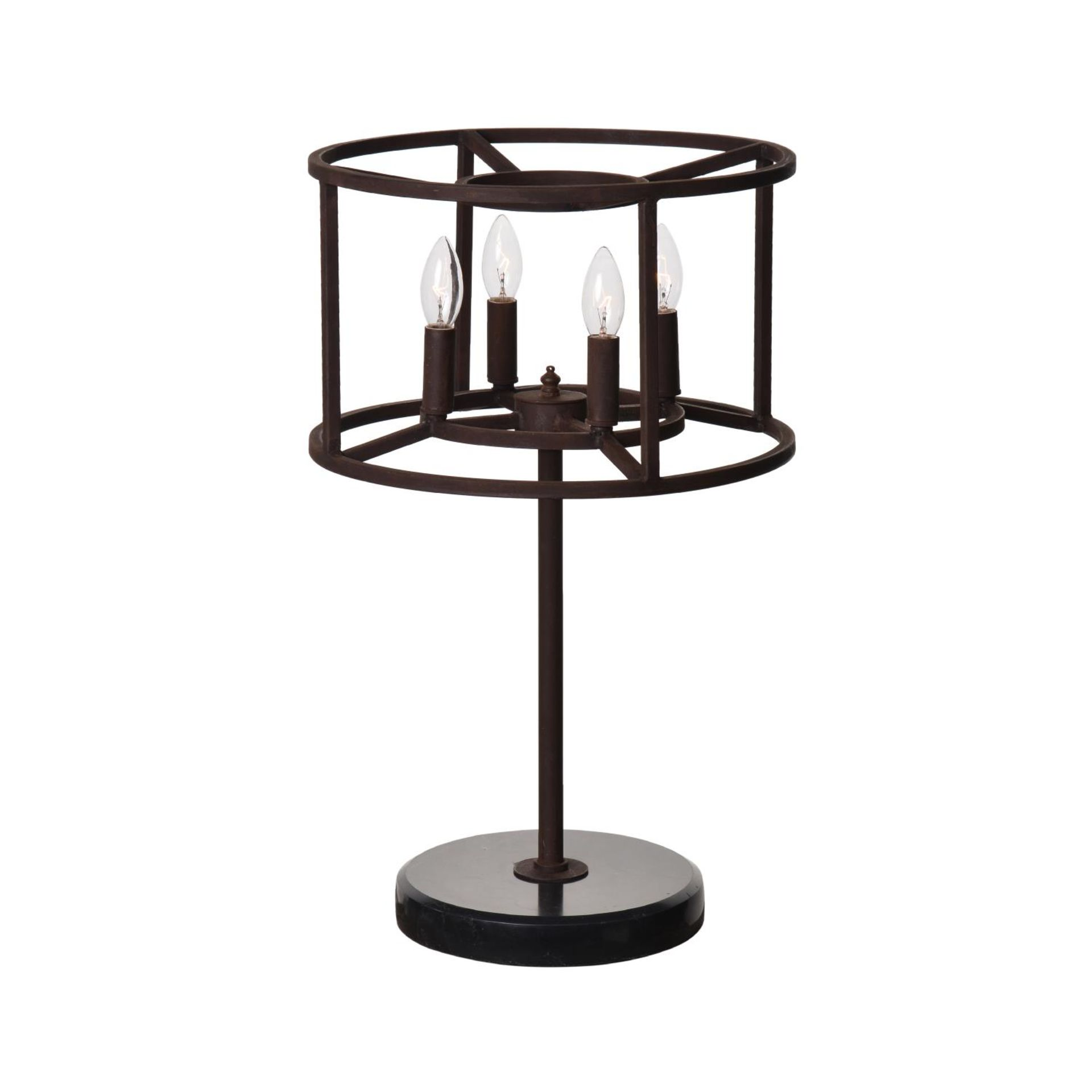 A CROWN TABLE LAMP - ANTIQUE RUST 40cm x 40cm x 62cm (rrp £550) EU wired