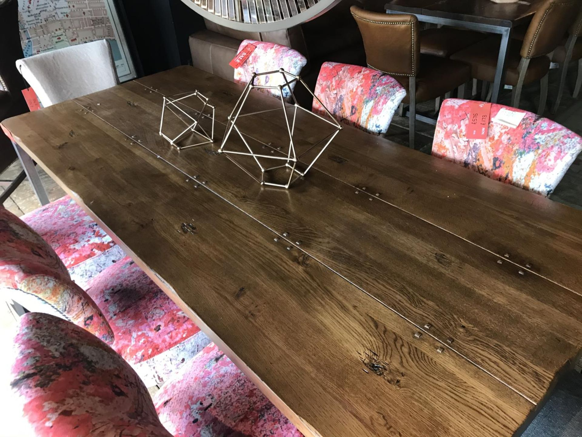 A BARBICAN DINING TABLE - SALOON & IRON 182.9cm x 91.4cm x 76cm (rrp £950)
