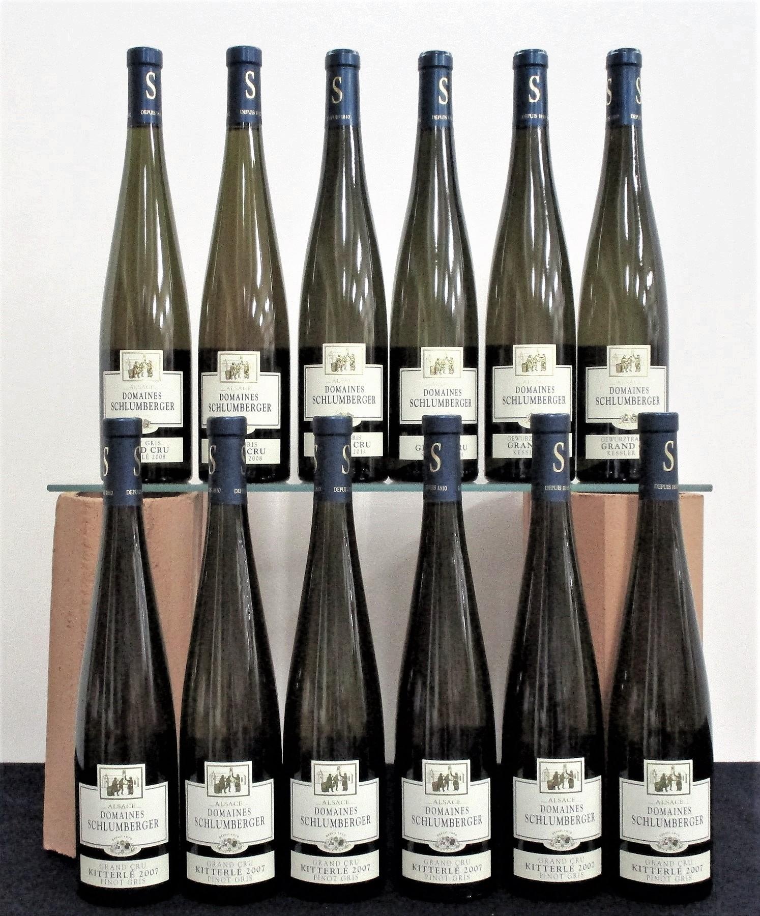 6 bts Dom Schlumberger Pinot Gris Grand Cru 2007 Kitterlé 2 bts Dom Schlumberger Pinot Gris Grand