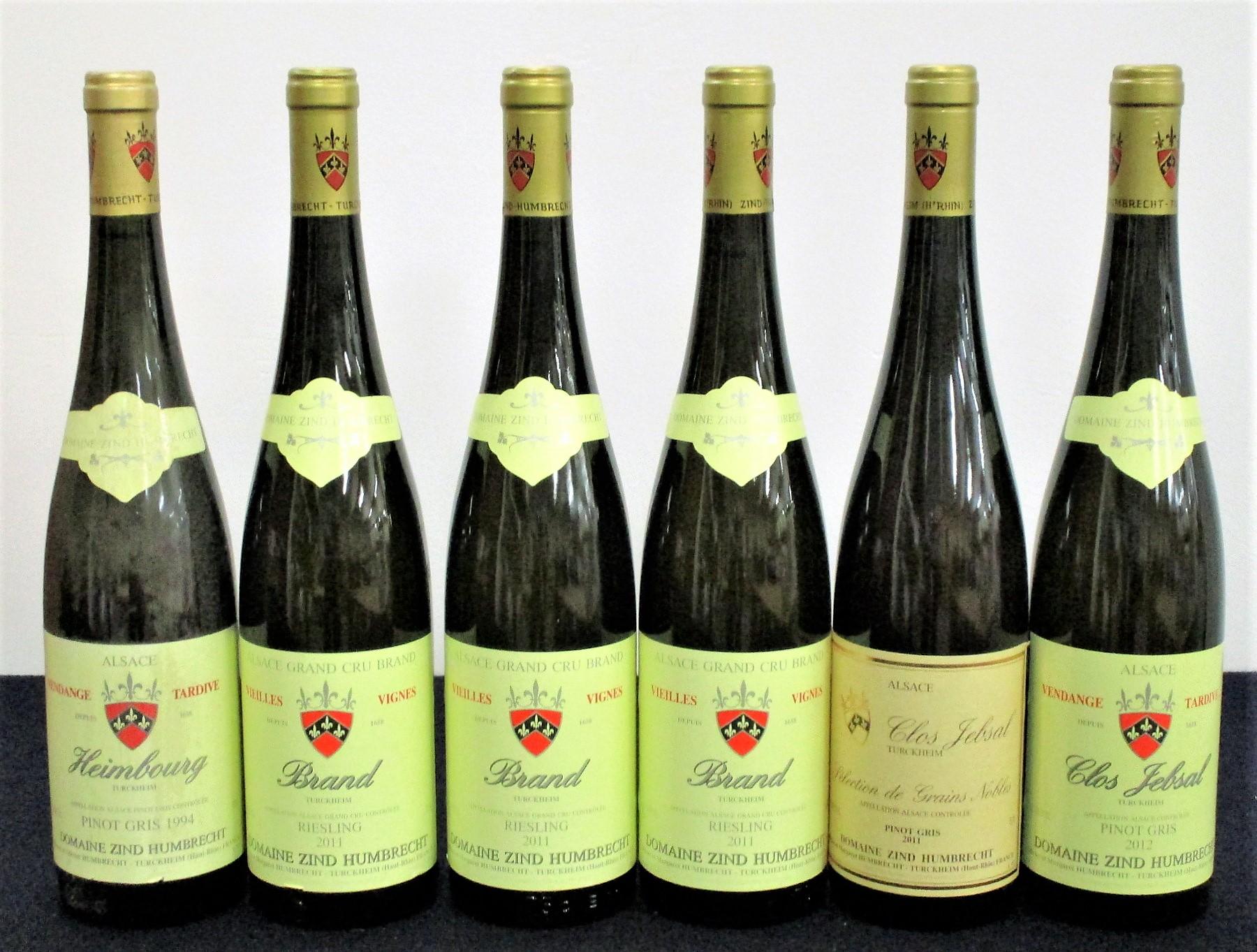 1 bt bt Dom Zind Humbrecht Heimbourg Turckheim Pinot Gris Vendange Tardive 1994 sl bs 3 bts Dom Zind