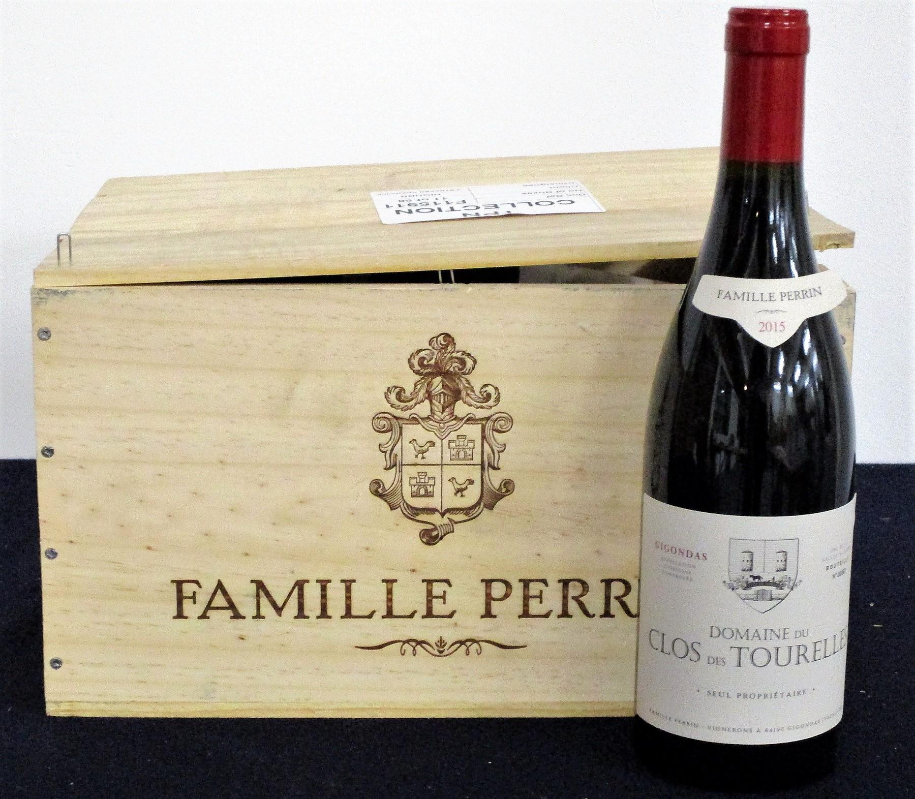 v 6 bts Gigondas Dom du Clos des Tourelles 2015 owc Famille Perrin 1 loose vintage label
