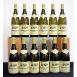 12 bts Chablis 1er Cru, Montmain 2000 oc Dom Pinson 10 hf/i.n, 2 i.n, capsules sl loose
