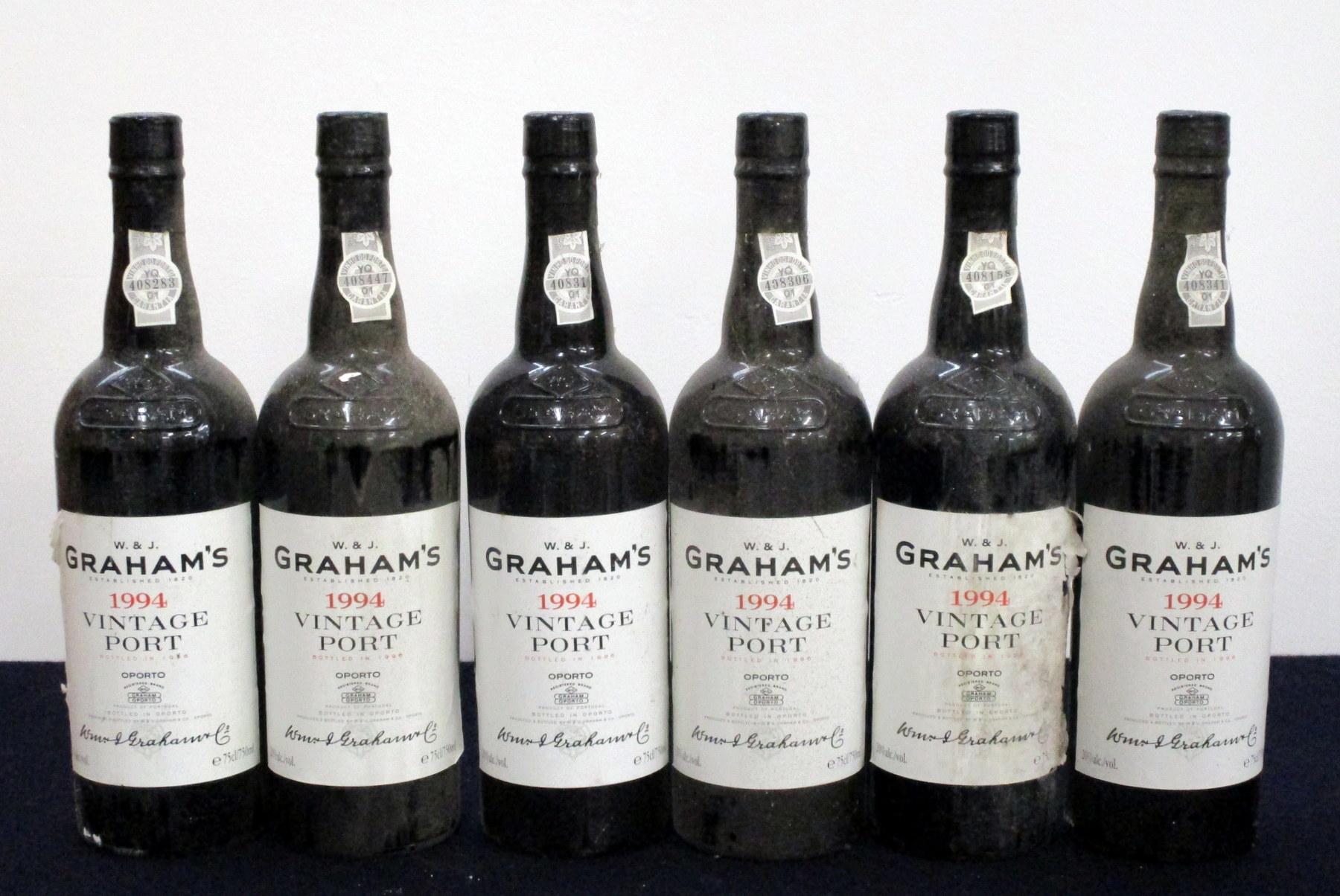 6 bts Grahams 1994 Vintage Port vsl bs, cdl