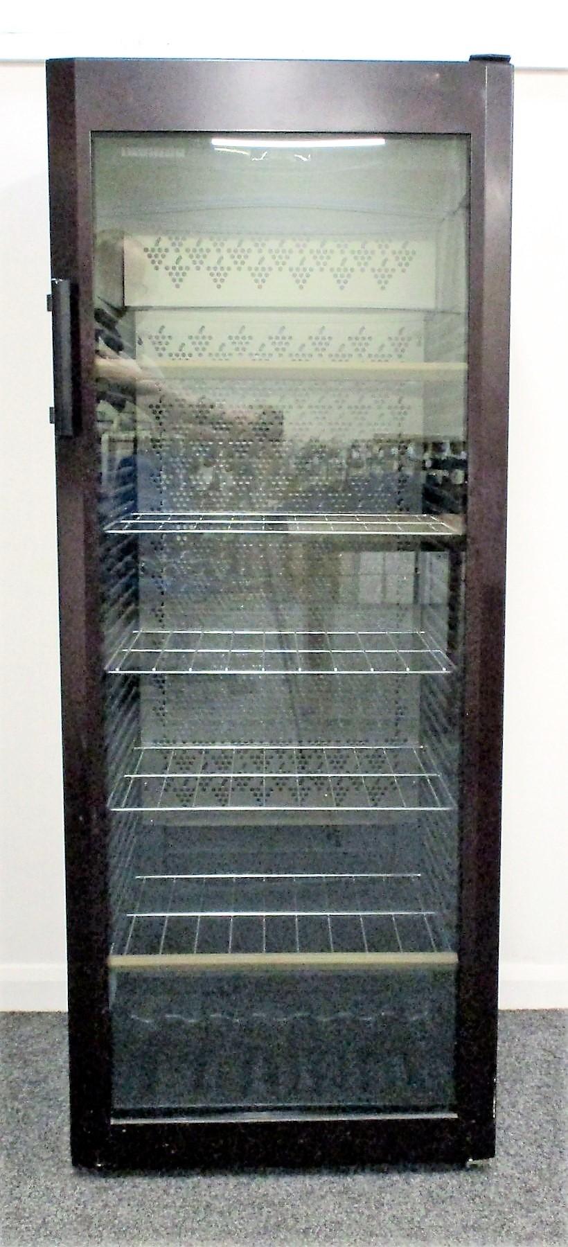A Liebherr Vinotech WK 4127 Freestanding Wine Storage Fridge Bordeaux Red with Tinted Glass door