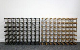 1 x 56 bt (8 x 7) Wood and Metal Wine Rack 1 x 56 bt (8 x 7) Wood and Metal Wine Rack Above two Wine