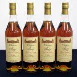 4 bts Ch. De Martet, Bas Armagnac 1990 P Gélas landed 1994, bottled 2005 for the Lay & Wheeler Bin