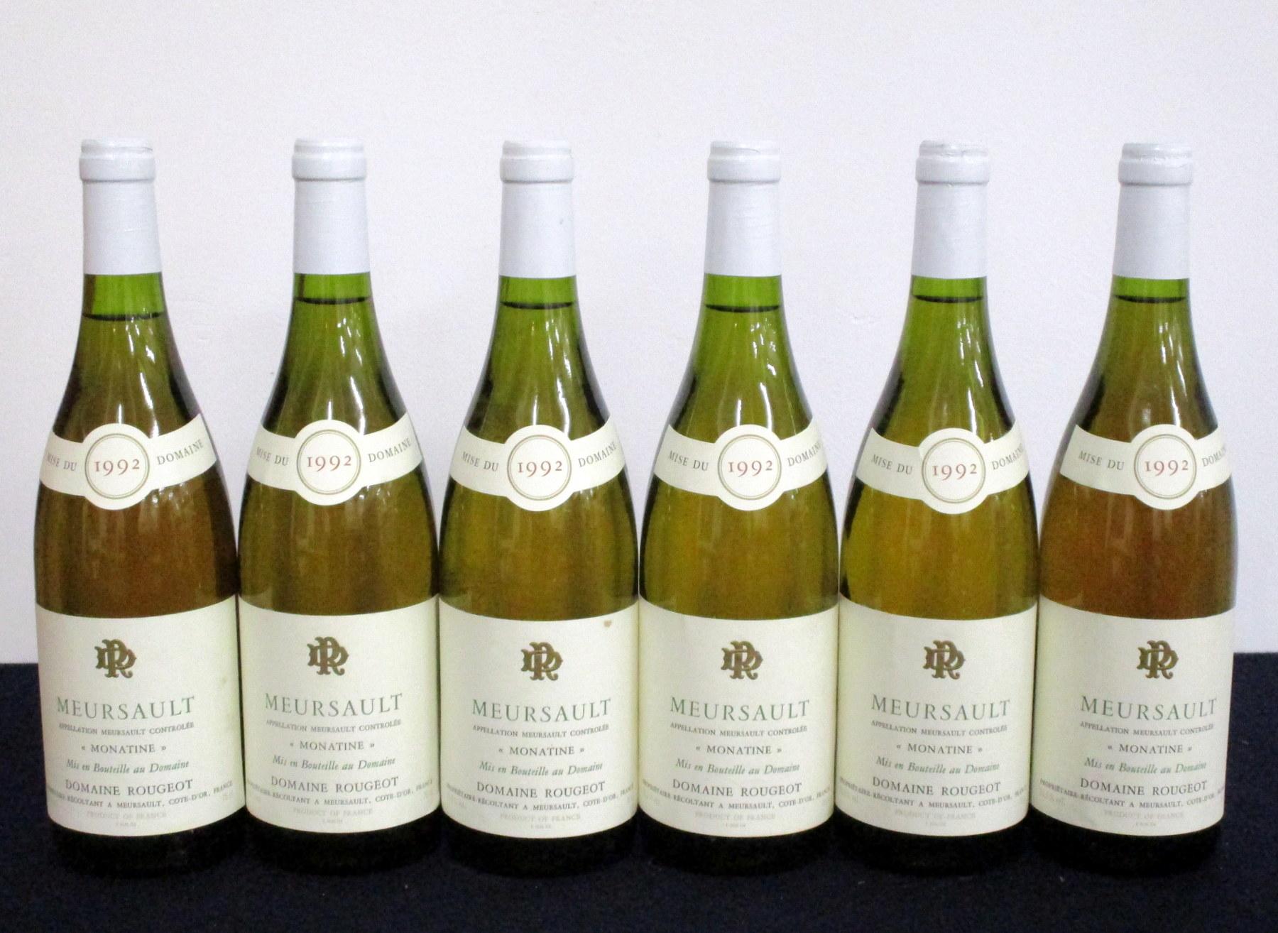6 bts Meursault 'Monatine' 1992 Dom Rougeot 5 i.n, 1 vts