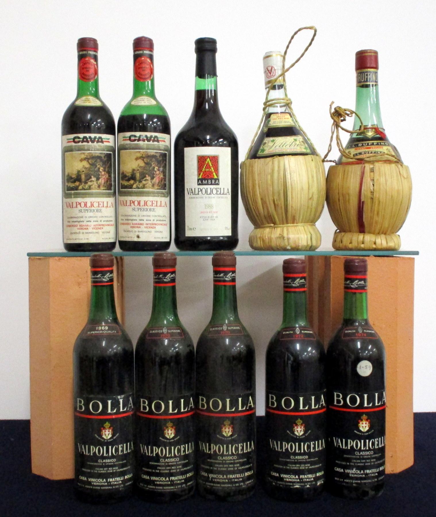 1 bt Bolla Valpolicella Classico Superiore 1969 ts, bs 2 bts Bolla Valpolicella Classico Superiore