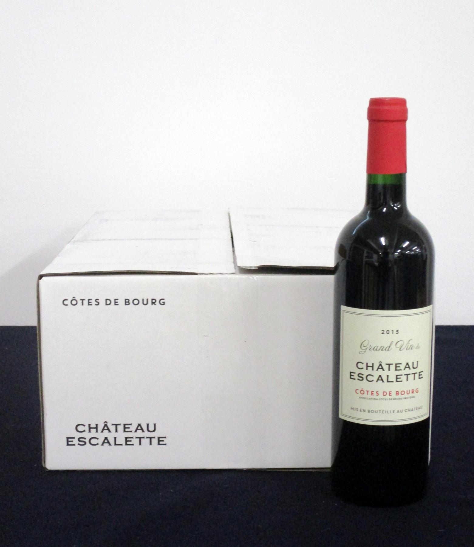 v 12 bts Ch. Escalette (Grand Vin) Côtes de Bourg 2015 oc