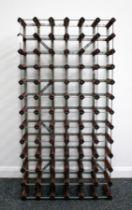 1 x 78 bt (6 x 13) Wood and Metal Wine Rack