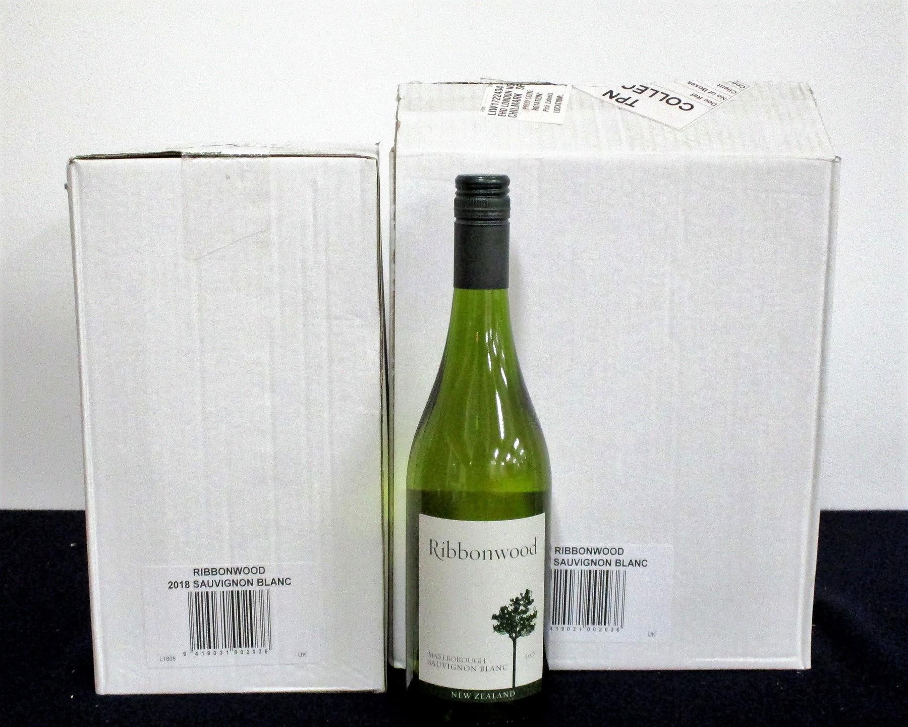 v 12 bts Ribbonwood Sauvignon Blanc 2018 oc (2 x 6) Marlborough