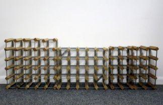 1 x 10 bt (2 x 5) Wood and Metal Wine Rack 1 x 10 bt (2 x 5) Wood and Metal Wine Rack 1 x 25 bt (5 x