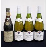 1 bt Macon-Village 1945 Chais de la Bourgogne 1945 A.J.Simon & Fils bls, bs/aged 3 bts Meursault-