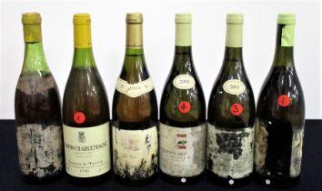 1 bt believed Meursault 1971 Domaine Unknown lms, bs, dis 1 bt Corton-Charlemagne Grand Cru 1990
