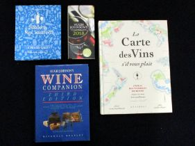 A Selection of Four Books including:- The Wine Companion - Third Edition, Hugh Johnson's Pocket Book