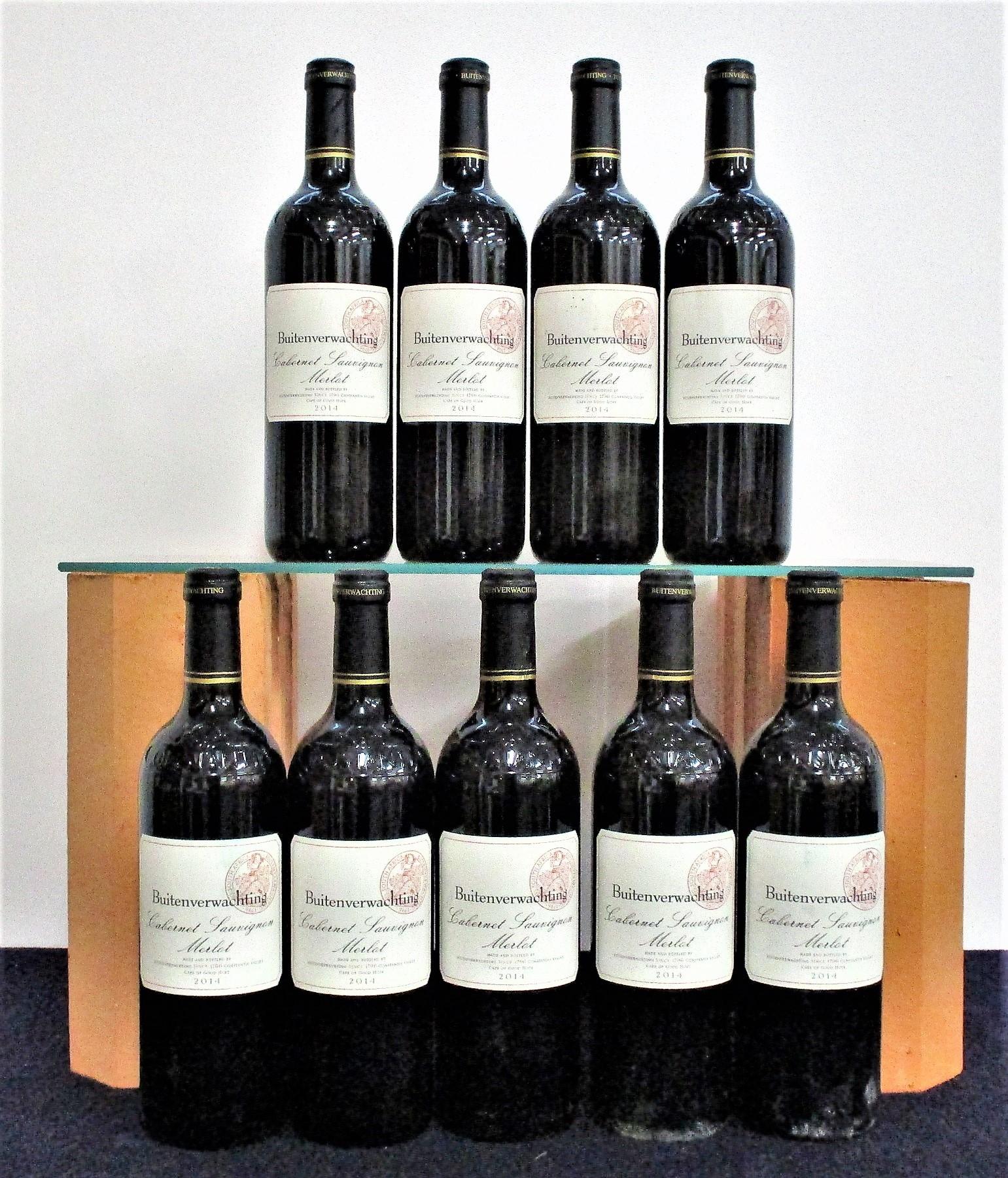 9 bts Buitenverwachting Cabernet Sauvignon Merlot 2014 Above nine bottles