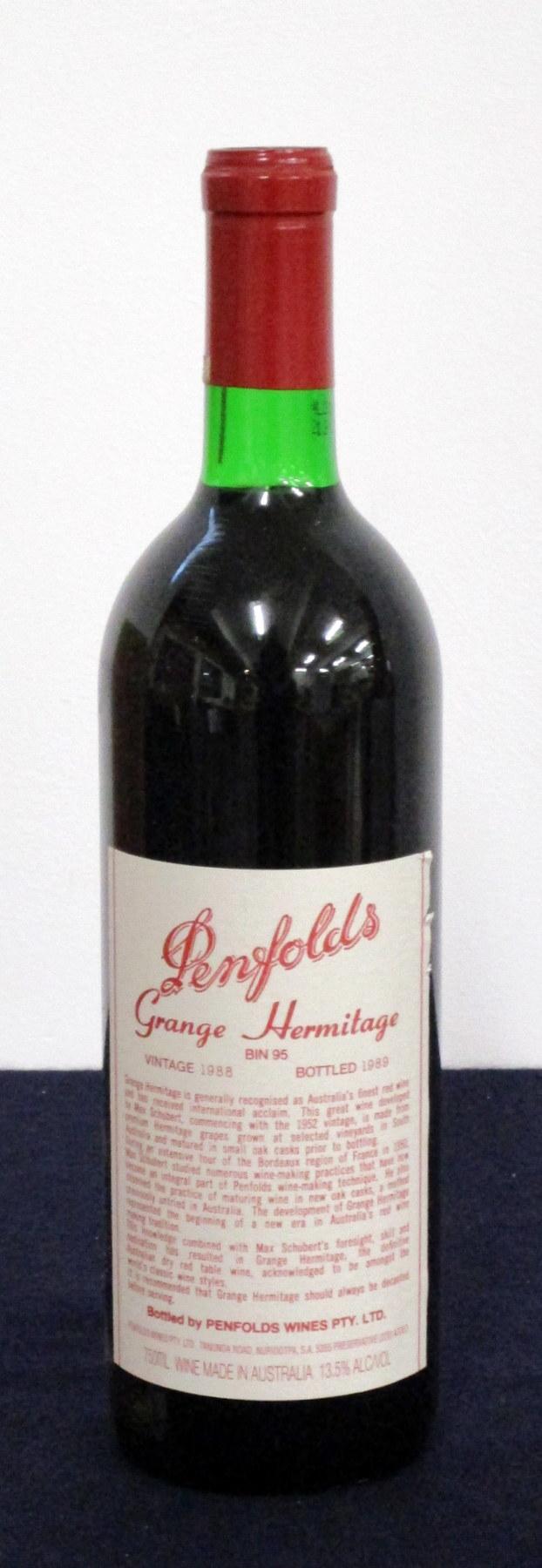 1 bt Penfolds Grange Hermitage Bin 95 1988 South Australia vts