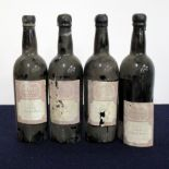 4 bts Taylors 6196 Crusted Port EB (The Wine Society) base of neck, bs/loose/sl torn labels, chipped