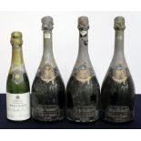 3 bts Dom Ruinart Blanc de Blancs Brut 1966 bs/aged, vsl foil damage 1 hf bt Bollinger Special Cuvée
