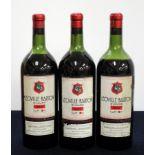 3 magnums Ch. Léoville-Barton 1952 St-Julien 2me Cru Classé 2 us, 1 lms, Barton & Guestier Label,