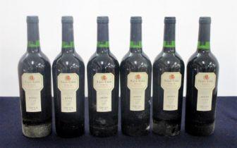 6 bts Baron de Chirel Rioja Reserva 1995 owc 4 i.n, 2 vts