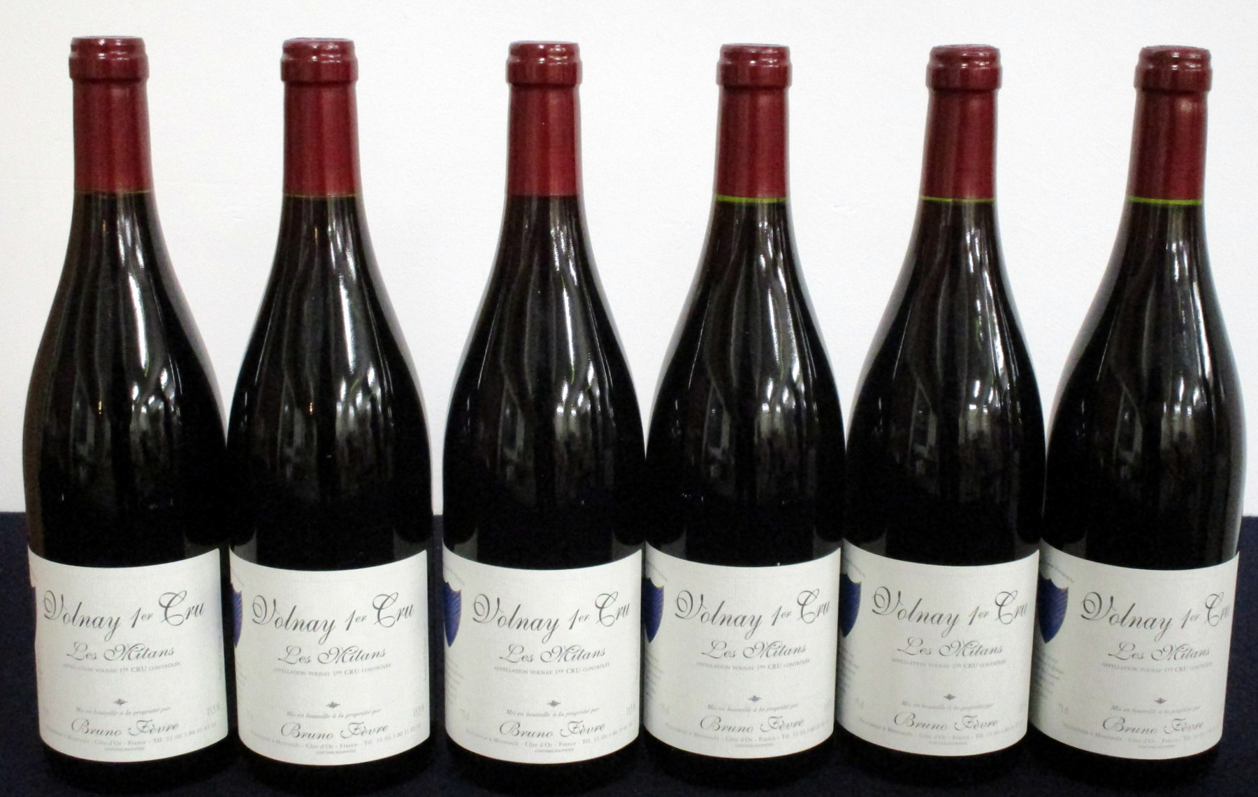 v 6 bts Volnay 1er Cru Les Mitans 2005 Bruno Fèvre 4 hf, 2 hf/i.n