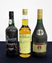 1 bt Silva & Cosens Ltd Charter Reserve Port NV bs 1 litre bt Gold Napoleon French Spirit bottled by