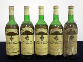 5 bts McWilliams Mount Pleasant 1964 Sauternes 1 lms/ms, 1 lms, 1 ls/lms, 2 ls, bs/aged/vsl torn