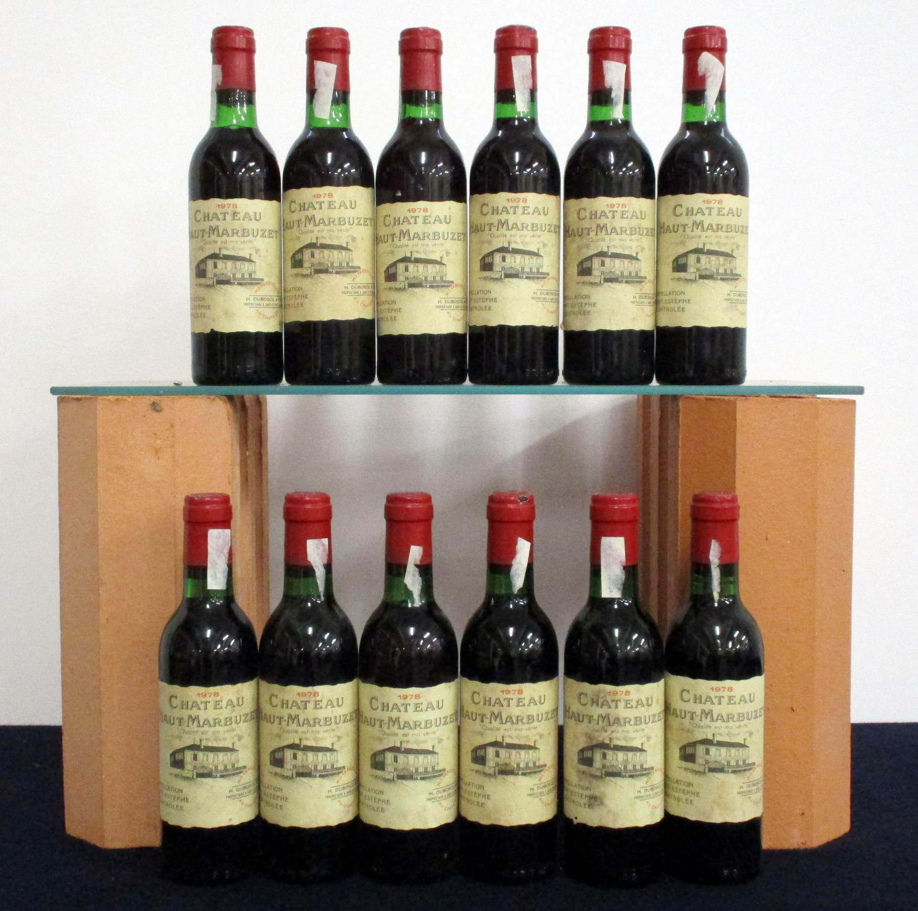 12 hf bts Ch. Haut-Marbuzet 1978 St-Estèphe Grand Bourgeois Exceptionnel 5 i.n, 7 vts, aged