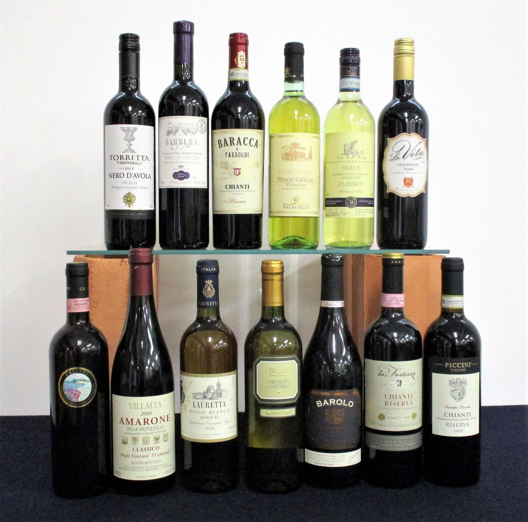 1 bt Chianti 2000 PI. GI. VI 1 bt Villalta Amarone Della Valpolicella Classico Single Vineyard