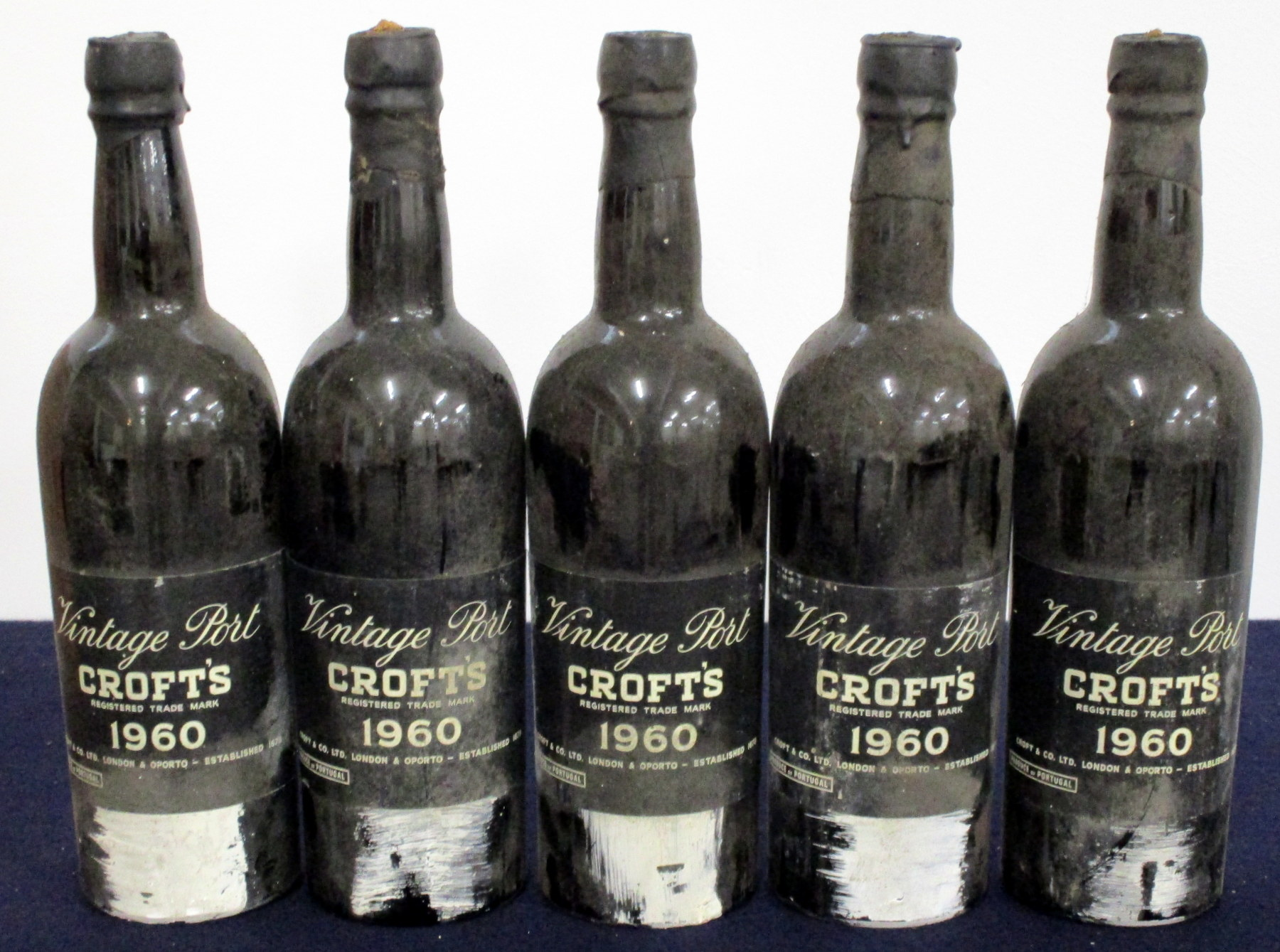 5 bts Croft's 1960 Vintage Port sl bs/aged