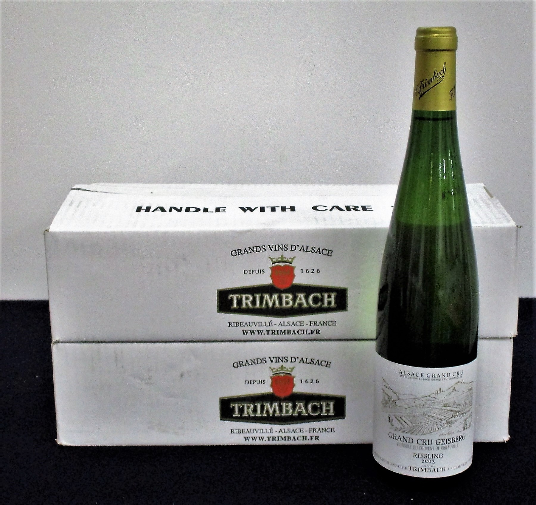 6 bts Trimbach Riesling Grand Cru Geisberg 2013 oc (2 x 3 bt)