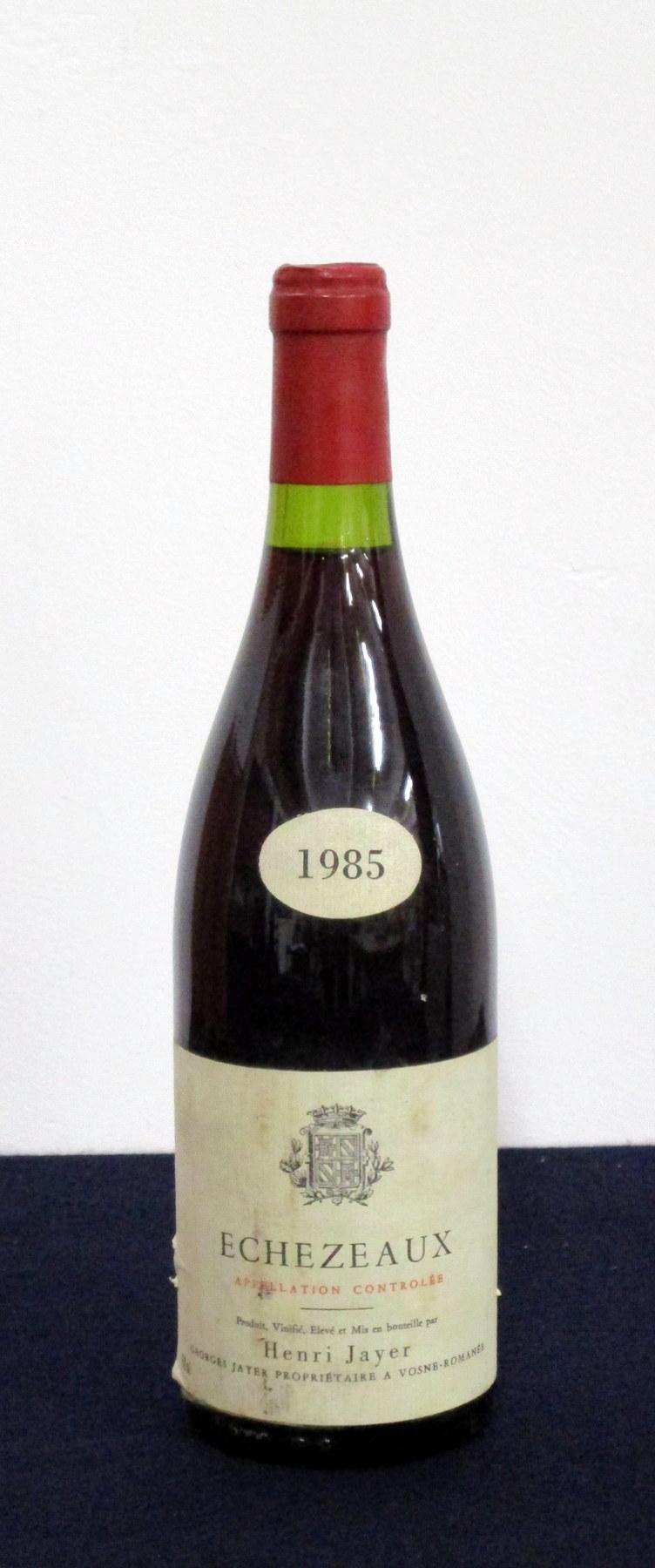 1 bt Echezeaux Grand Cru Elevé et Vinifié par Henri Jayer 1985 From the vines of Georges Jayer i.
