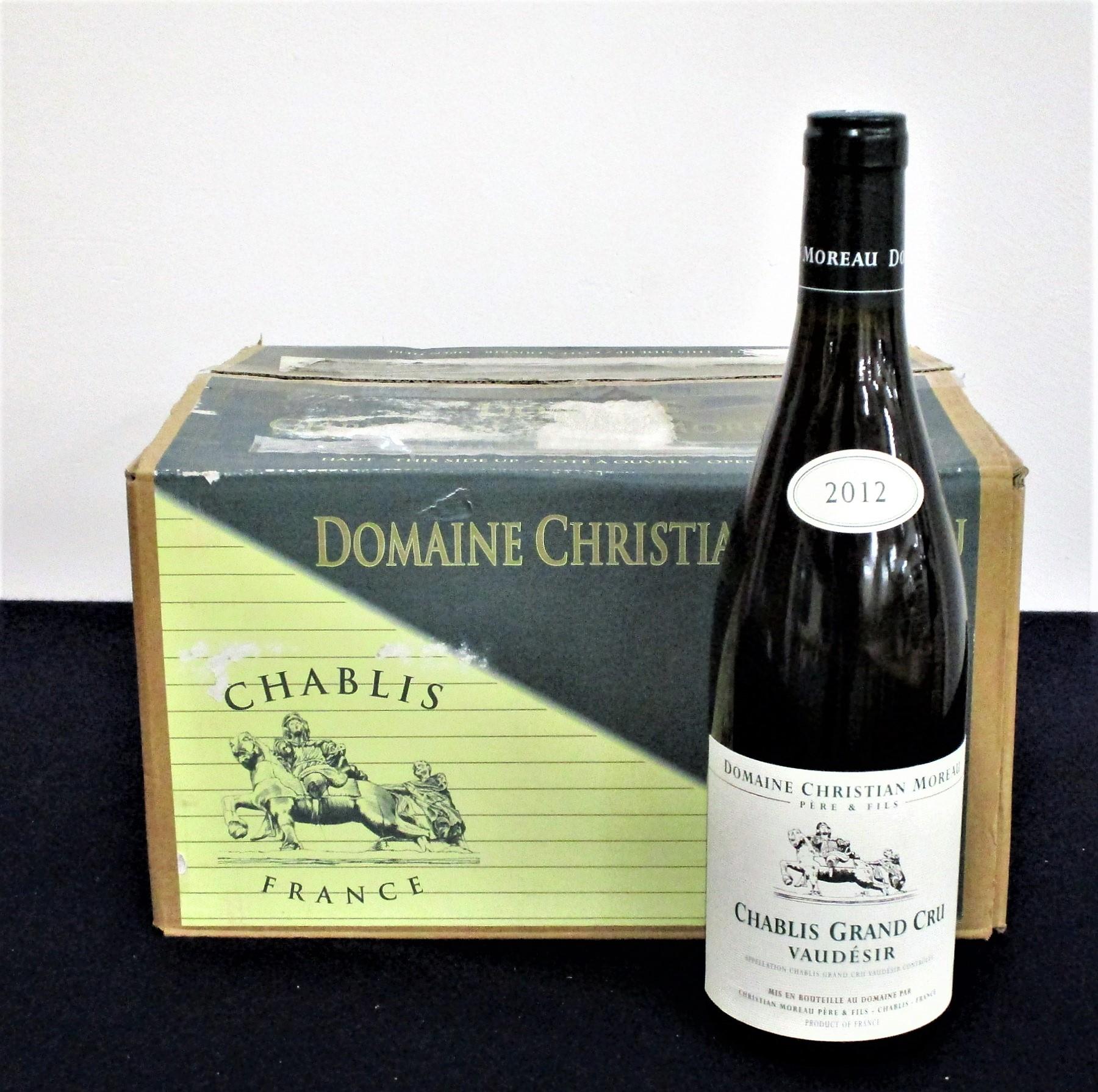 12 bts Chablis Grand Cru Vaudésir 2012 Dom Christian Moreau