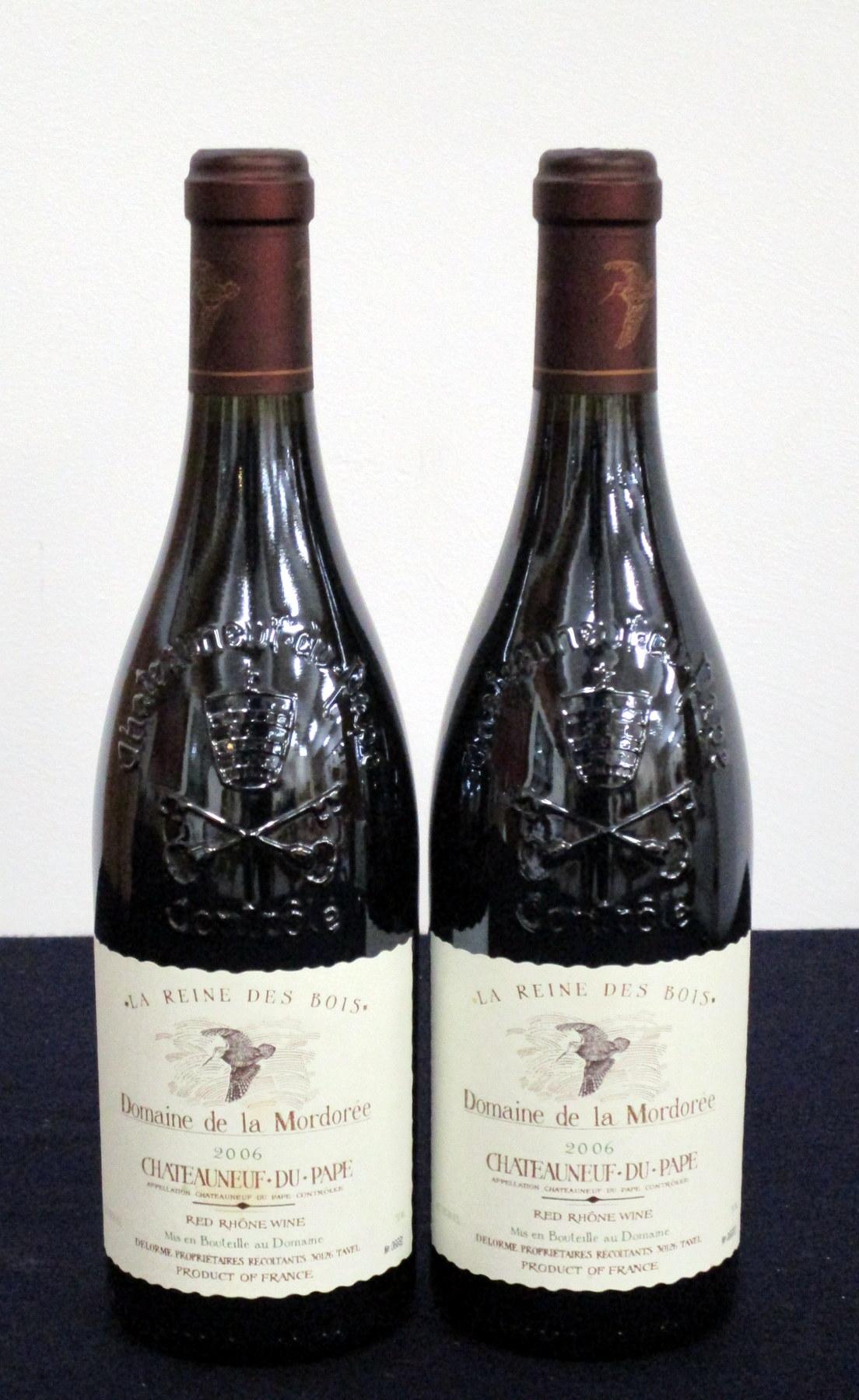 2 bts Châteauneuf du Pape, La Reine des Bois 2006 Dom de la Mordorée i.n